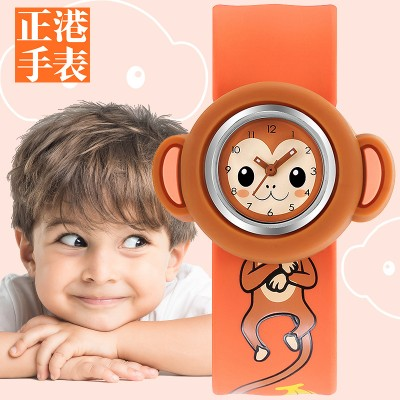Children elementary school students applauded watch ring girl 2, 3, cute girl boy baby baby toy cartoon waterproof