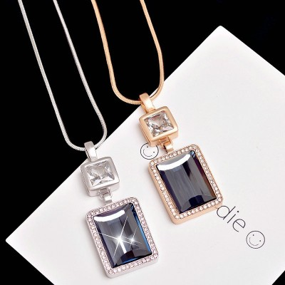 Han edition joker artificial zircon compose love perfume bottles long necklace qiu dong female fashion sweater chain accessories
