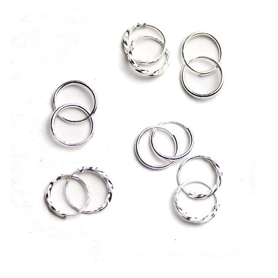 990 sterling silver earrings Female temperament of huai, Japan and South Korea ear small ear clip ear bone hoop earrings allergy free earrings
