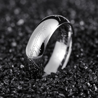 Lord of the rings the ring couple ring, titanium steel domineering man ring han edition men and women to buddhist monastic discipline individuality tidal tail ring