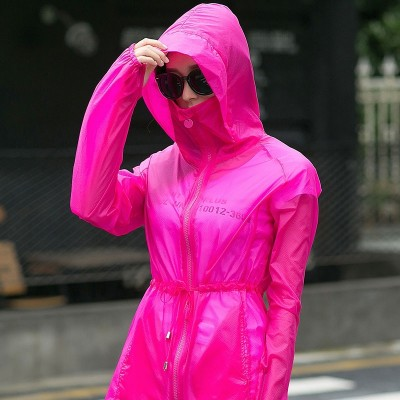 new summer sun protection clothing female color code breathable sunscreen shirt sleeved coat sunscreen clothing girls long