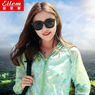 the new outdoor summer sun clothing, women's short sunscreen clothes, thin coat, a large length of sunscreen