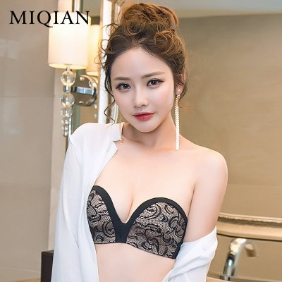 Strapless bra invisible underwear women gather chest seamless slip miracle thin wedding dress bra at ease