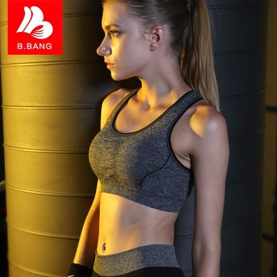 Sports underwear, shock, running, gym, vest, girls, students, yoga, sleep, summer, no rims, bras