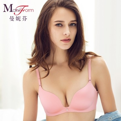Manifen sexy smooth adjustable underwear bra comfort seamless wireless gather close Furu ladies bra
