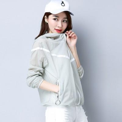 Sunscreen clothing female  new summer summer coat thin Korean short shirt loose sunscreen sunscreen clothing female all-match