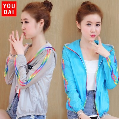 Sun protective clothing, women's  summer new short jacket, sunscreen clothes, thin shirt, short skin clothing, speed drying, outdoor long sleeve