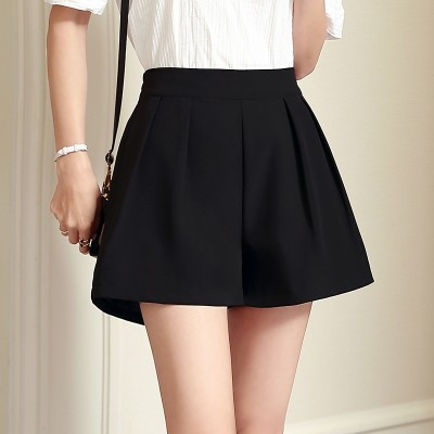 Summer Shorts female size wide leg loose Chiffon  new a super high waisted Skirt Suit Shorts words casual pants