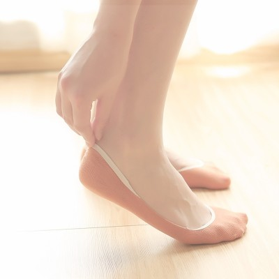 Summer thin socks female cotton socks socks children shallow mouth contact silicon gel summer slim ladies socks