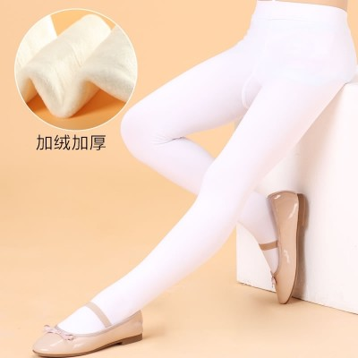Children tights winter and winter thickening, cashmere, white dance socks, Terry girls, bottoming tights, spring and Autumn