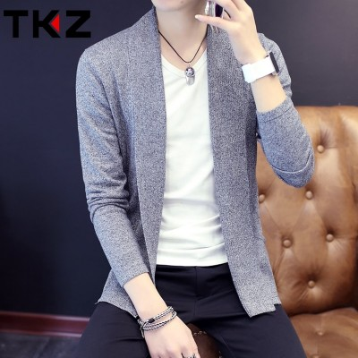 spring and autumn Korean men thin sweater sweater cardigan sweater coat young men tide