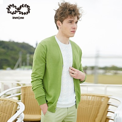 Spring men V neck knit shirt CARDIGAN SWEATER MENS Korean large thin long sleeved sweater coat code couple tide