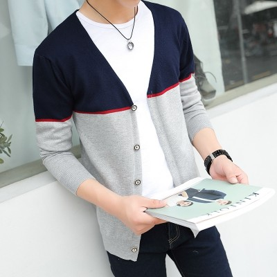 Spring and autumn men sweater cardigan sweater Korean youth  new trend of thin spring coat jacket