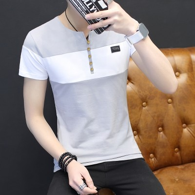 Summer men's short sleeve T-shirts, men's new Korean version, young students, T-Shirts, half sleeves, student tops, tide cards, men's wear