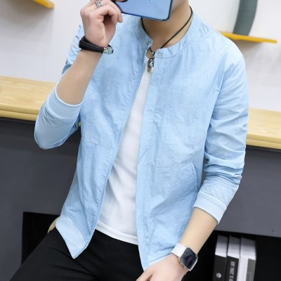 Sun clothing, men's Korean version, summer  new style slim men's jacket, coat thin tide