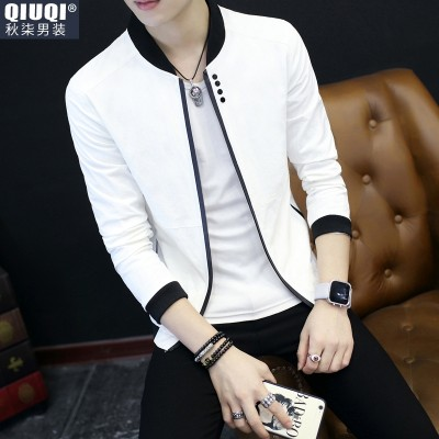 Summer,  new men's jacket, thin style, leisure, self-cultivation, Korean version, coat, men's trend, spring and autumn sun clothing