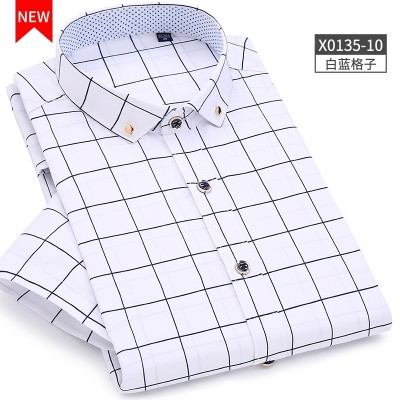 The Antarctic summer a men's Short Sleeve Shirt slim Korean floral shirt casual stamp half sleeve Metrosexual thin shirt