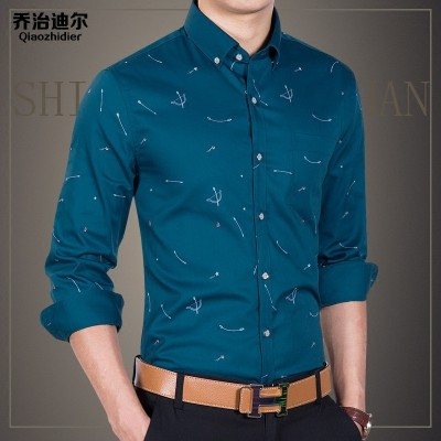 Summer men's shirts, long sleeves, thin, slim, business casual, white inch shirts, Korean shirts, men's tide