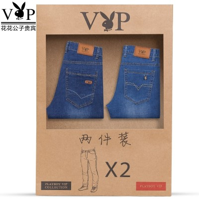 Playboy jeans, men's summer style, youth, business casual, men's trousers