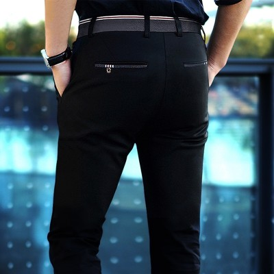 Summer style men's business casual pants, slim, Korean, trousers, men's trousers, stretch, black men's trousers