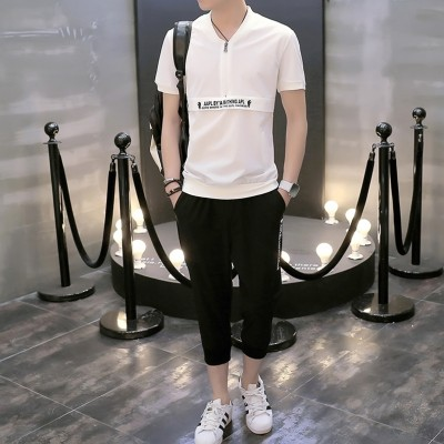 In the summer of  new men's casual shorts suit summer two piece pants trend of Korean summer seven