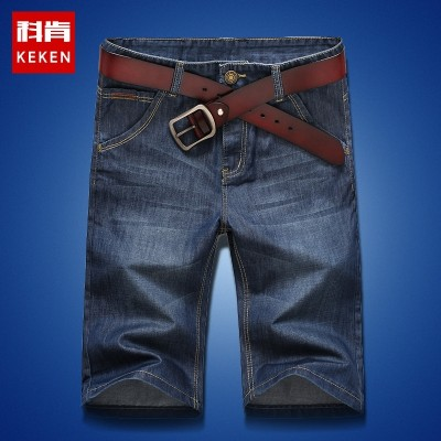 Denim shorts five male pants summer thin breeches male 5 pants size Korean men loose straight pants