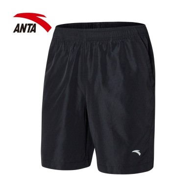 Anta shorts, men's  summer style casual pants, quick drying, breathable, black running, five pairs of pants