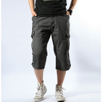 Summer overalls thin Shorts Mens Multi Pocket pants pants seven outdoor leisure sports men