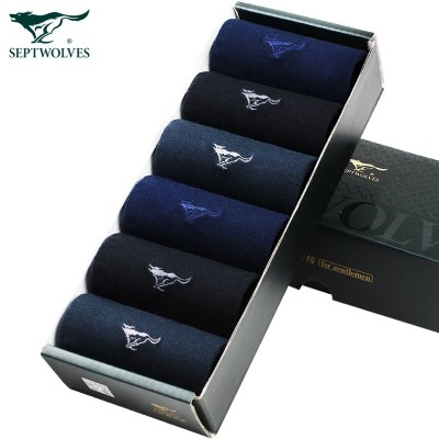 Septwolves men's cotton socks socks in summer Tube Socks Socks Black thin cotton sport deodorant thin socks