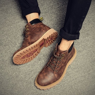 Men's spring men Martin boots boots boots trend of Korean leisure desert boots British style boots boots