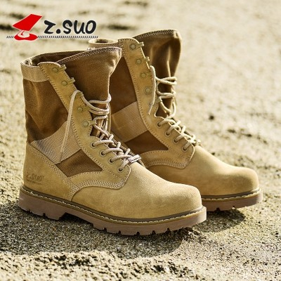 Ropedancing leather boots Martin male summer desert boots high boots Bangjun outdoor boots boots size male female fashion