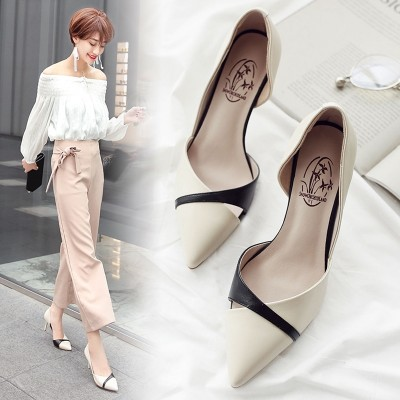 Thick bottom slippers, female Korean version, high heeled sandals, fashionable slope, flat bottom antiskid beach shoes, cold mop, flip flops