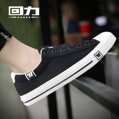 Male warrior canvas shoes help tie shoes shoes low male male Korean students summer leisure breathable flat shoes