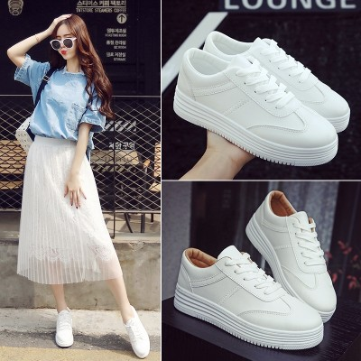 Summer all-match white shoes breathable shoes' Korean white canvas shoes soled shoes flat casual shoes