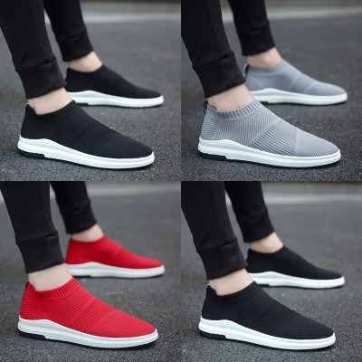The new summer trend of Korean male shoes shoes canvas shoes men men's casual shoes pedal lazy shoes