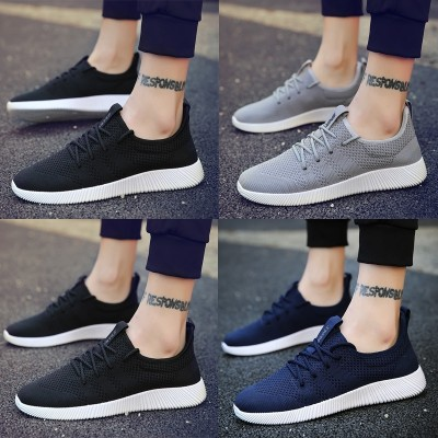 new youth men's summer shoes casual shoes low breathable mesh canvas shoes to help Korean students shoes