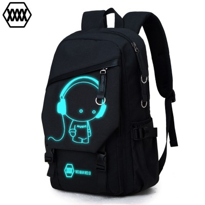 Double shoulder bag man fashion trend backpack, large capacity travel bag, leisure computer bag, middle school bag, male bag printing