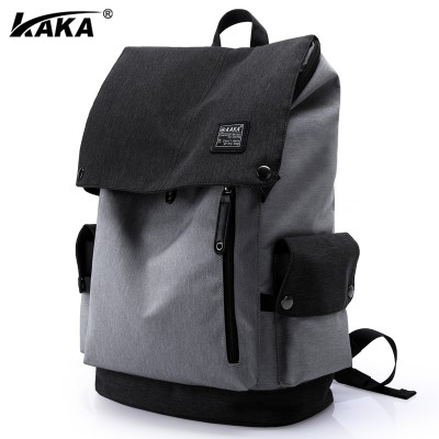 Kaka men's shoulder bag, male Korean version, leisure backpack, male college student bag, male travel bag, computer bag, men's bag