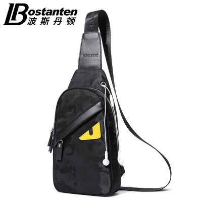 The small monster chest pack male Korean tide Oxford sports leisure canvas cloth pocket Shoulder Bag Messenger Bag man bag