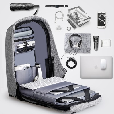 Double bag computer bag, multifunctional anti-theft schoolbag, student backpack, shoulder bag, travel & leisure business