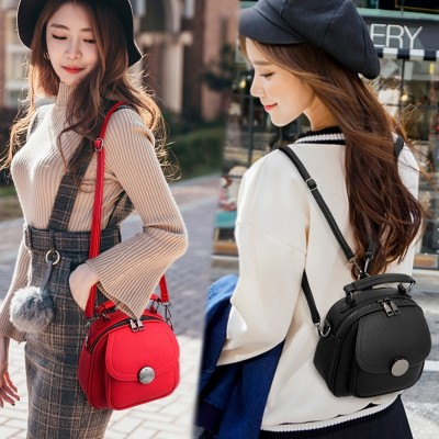 Small bag  new handbag handbag on the Korean tide simple single shoulder bag all-match backpack Backpack