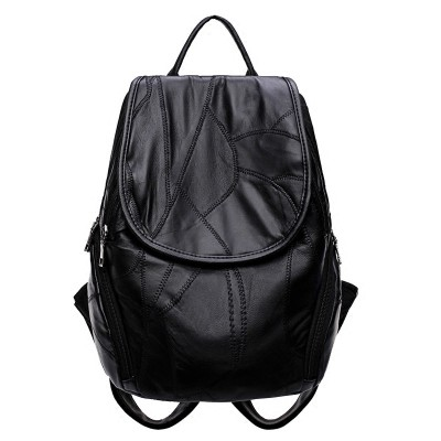 Sheepskin leather shoulder bag female  new Korean tide all-match Backpack Bag mummy bag travel bag bag