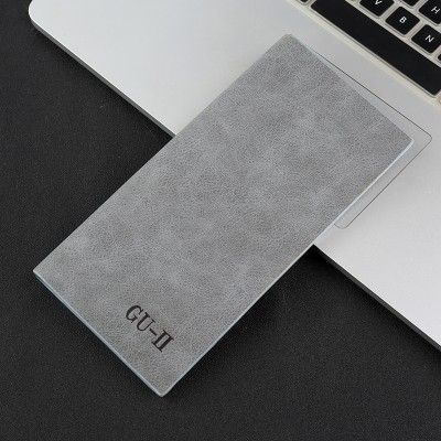 Male wallet long thin section of young men's personality retro matte leather clip fashion Student Wallet South Korea tide