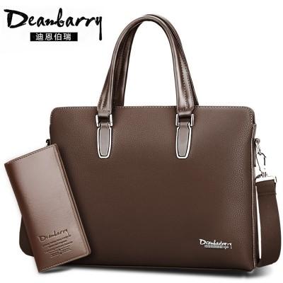 Male briefcase bag bag handbag business men's cross section Single Shoulder Bag Messenger male Backpack