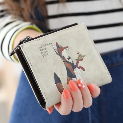 On the Korean cartoon typeaway Mai Beibei zipper hasp zero wallet purse short female students