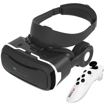 Vr all-in-one 3 d glasses 3 d cinema mobile game virtual reality helmet millet samsung head-mounted apple
