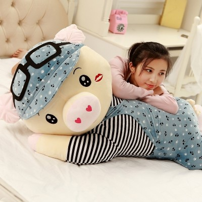 Cute piglet toy piglet toy pig doll is large in the pillow piggy doll to sleep on the pillow girl presents