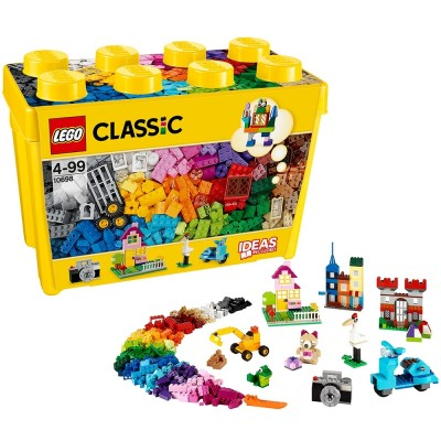 The amazon LEGO LEGO classic is a large wooden box with 10, 698 years of children's toys