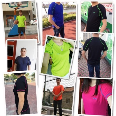 Speed clothes, men's and women's suits, short sleeves, big round yards, summer outdoors, mountaineering, quick drying, hiking clothes, running sports, T-Shirts