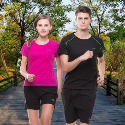Quick drying men and women short sleeved summer sweat jacket, fast dry shirt, large yards, outdoor sports, running couples, speed dry T-shirt